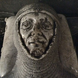 Otto de Grandson - Detail of the tomb effigy of Otto de Grandson in the cathedral of Lausanne.