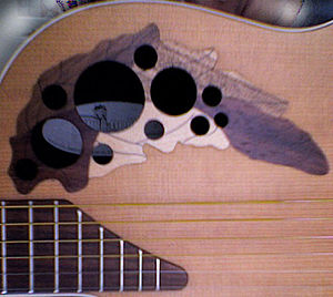 Ovation Guitar Company - Sound holes on Ovation Applause