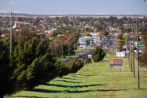 Overlooking Dubbo from the suburb of West Dubbo