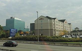 Ridgefield Park, New Jersey - Highway passes Overpeck Corporate Center in Ridgefield Park