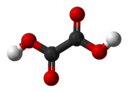 Ball-and-stick model of oxalic acid