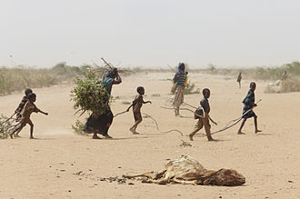 La Niña - Image: Oxfam East Africa A family gathers sticks and branches for firewood