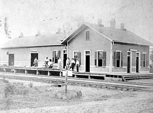 Pensacola and Atlantic Railroad - Image: P&A depot Milton