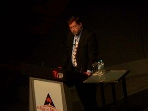 PZ Myers at the 2010 Global Atheist Convention.