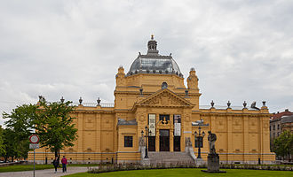 Art Pavilion, Zagreb - Front entrance to the Pavilion, as seen from King Tomislav Square