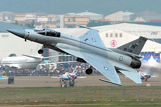No. 16 Squadron (Pakistan Air Force) - A JF-17 performs at the Zhuhai Air Show 2010.