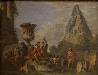 ruines antiques avec la pyramide de Caïus Cestius