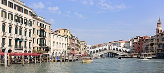 Venice - Venice in fall, with the Rialto Bridge in the background