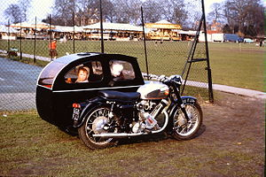 Phelon & Moore - Panther S120 with Watsonian double adult sidecar