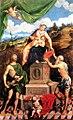 Paris Bordone - Madonna in trono con bambino, San Giovanni Battista e San Girolamo - Museo Civico, Treviso.jpg