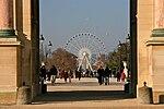 Paris Eye, Down the Jardin des Tuileries towards Place de la Concorde, 2009.jpg