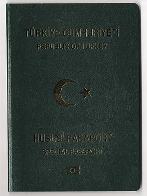 Turkish passport - Image: Pasaport 2 001