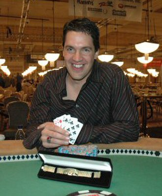 Pat Poels - Poels after winning his first bracelet at the 2005 World Series of Poker.