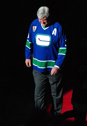 Pat Quinn (ice hockey) - At Gordie Howe Night in Vancouver, 2008