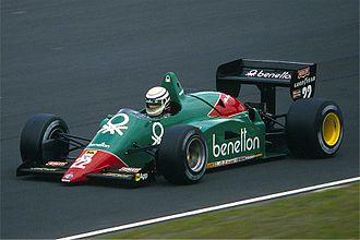 Alfa Romeo 184T - Riccardo Patrese driving the 184TB at the Nürburgring in 1985.