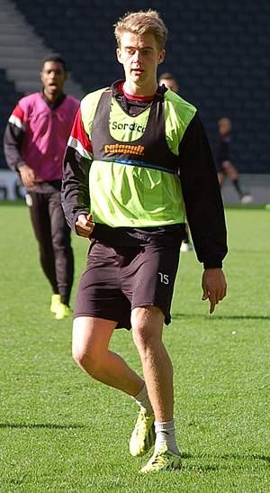 Patrick Bamford - Bamford training with Milton Keynes Dons in 2013