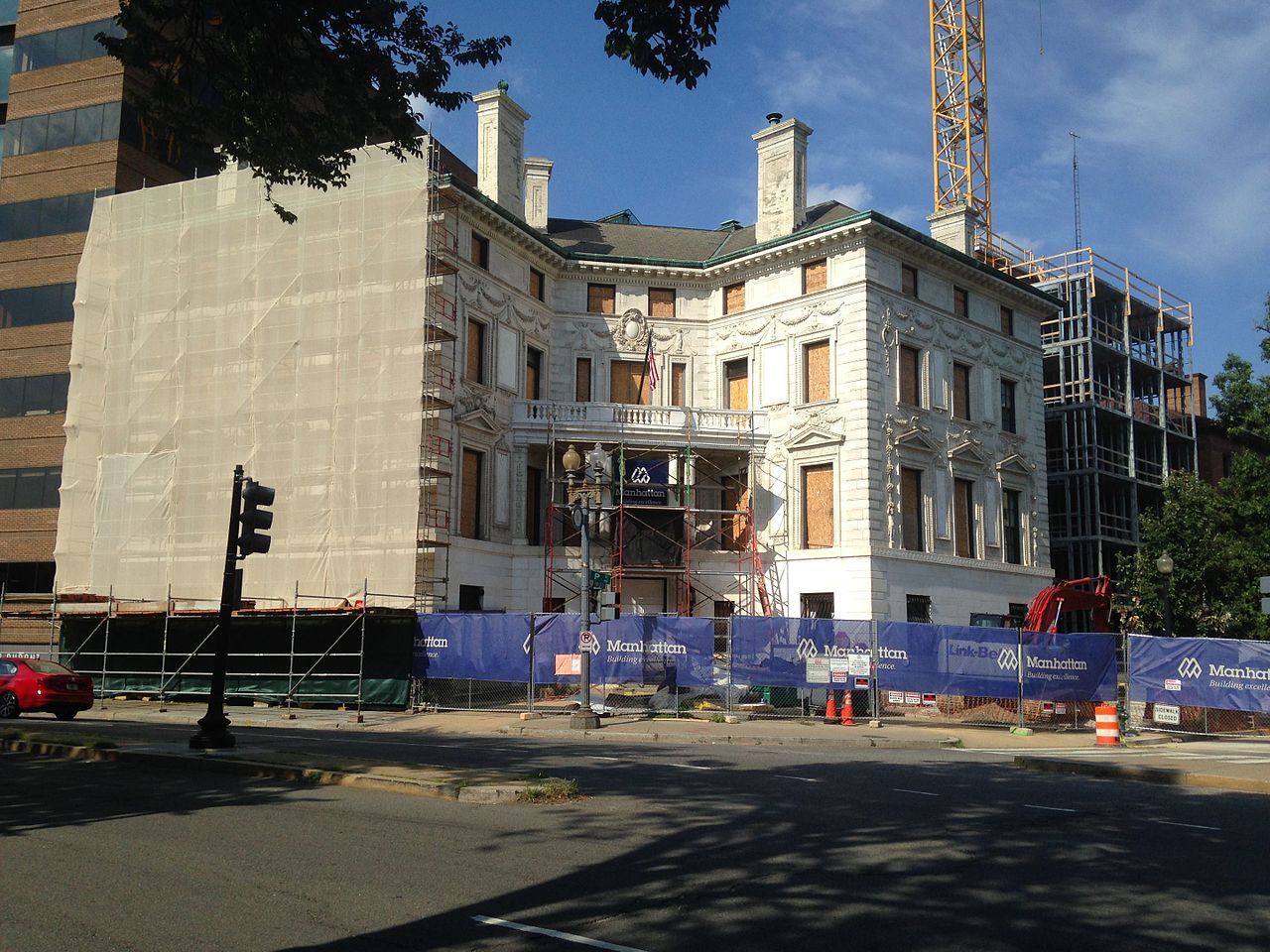 file patterson mansion undergoing renovation on dupont