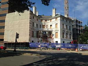 Patterson Mansion - Patterson Mansion being converted into apartments in 2016.