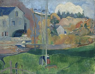 Landscape in Brittany. The David Mill