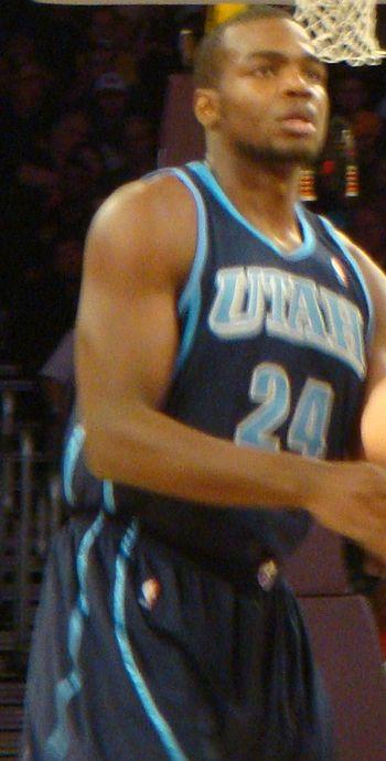 Paul Millsap of the Utah Jazz pictured in play...