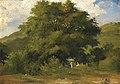 Paysage avec femmes sous un grand arbre.jpg