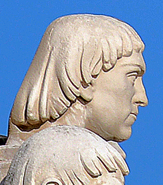 Pêro de Alenquer - Effigy of Pêro de Alenquer in the Monument of the Discoveries, in Lisbon, Portugal.