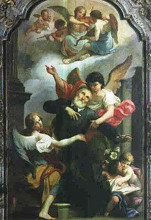 Giuseppe Peroni - Extasis of Phillip Neri (1764), Santa Maria presso San Satiro, Milan