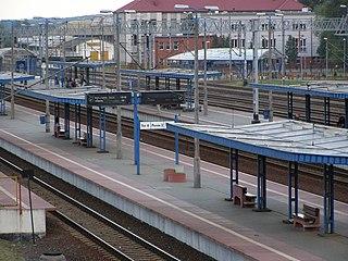railway station in Mińsk Mazowiecki, Poland