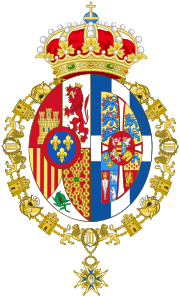 Personal Coat of arms of Sofia, Queen of Spain.svg