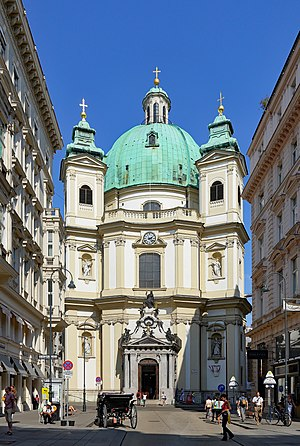 St. Peter's Church, Vienna - St. Peter's Church main facade, seen from the Graben street