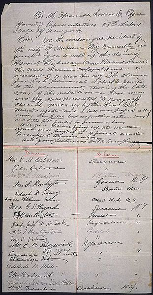 File:Petition of the residents of Auburn, New York, requesting that the claim of Harriet Tubman be called up, ca. 1898 (page 1 of 2) (6482092577).jpg