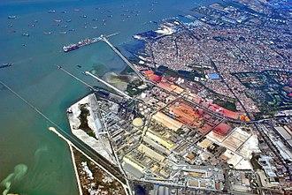 Gresik Regency - Port of Petrokimia Gresik and Gresik settlements
