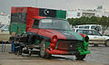 Peugeot car painted with the flag of Libya (Bayda,Libya).jpg