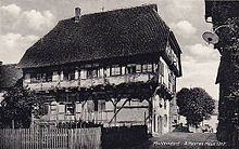 The 700-year-old house Pfullendorf. Old house believed to have been built in 1317.jpg