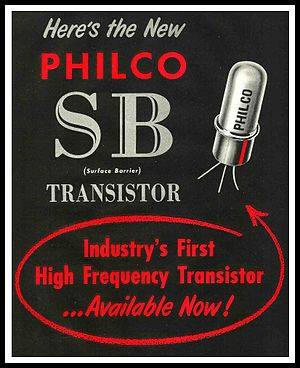 Philco - Philco Surface Barrier transistor announcement