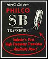 Philco SB100 surface barrier transistor ad=1955.jpg