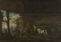 Philips Wouwerman - The Interior of a Stable (1650s).jpg