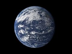 A photo of Earth seen from space