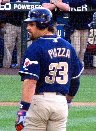 Mike Piazza - Piazza wearing number 33 with San Diego in 2006