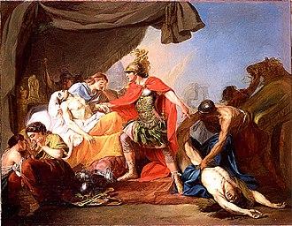 Pierre Lacour - Achilles Deposits Hector's Corpse at the Feet of Patroclus (Prix de Rome)