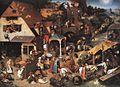 Pieter il Vecchio Bruegel Netherlandish Proverbs.jpg