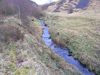 Piethorne Brook river in the United Kingdom