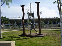 פסל שמשון בפארק כפר סבא