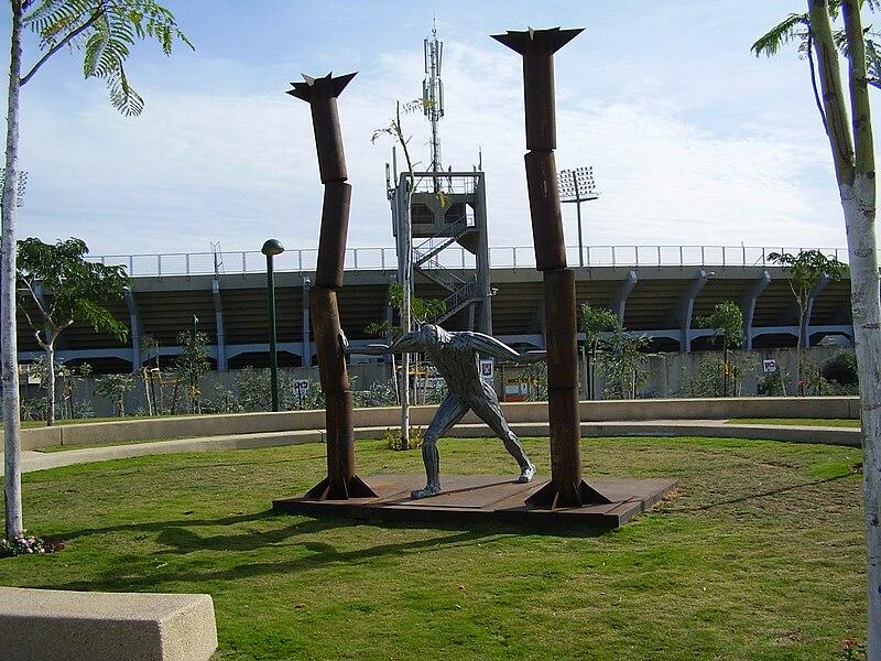 פסל שמשון הגיבור בפארק כפר סבא