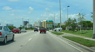 U.S. Route 1 in Florida - Portion of the South Dixie Highway, just south of Dadeland