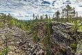 Pirunkuru towards south on Kivitunturi, Savukoski, Lapland, Finland, 2021 June.jpg