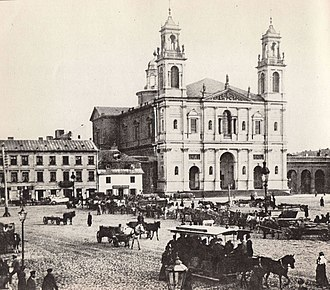 All Saints Church, Warsaw - Church on Grzybowski Square in the 2nd half of the 19th century
