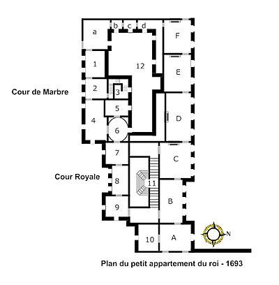 Petit appartement du roi wikipedia for Plan appartement