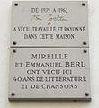 Plaques Jean Cocteau, Emmanuel Berl et Mireille, 36 rue de Montpensier, Paris 1.jpg