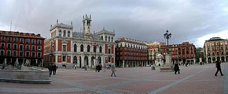 """Plaza Mayor, Valladolid - The Plaza Mayor (""""Main Square"""") in the present."""